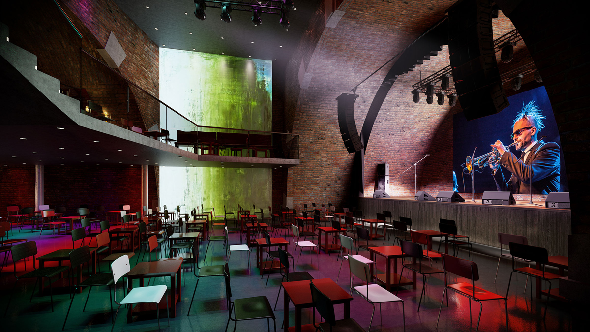 Vienna Music Club 3D visualization renderings