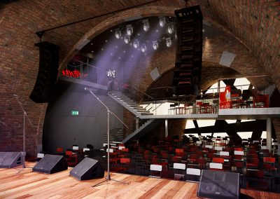 3D Visualization Rendering of Vienna, Austria Music Club Interior