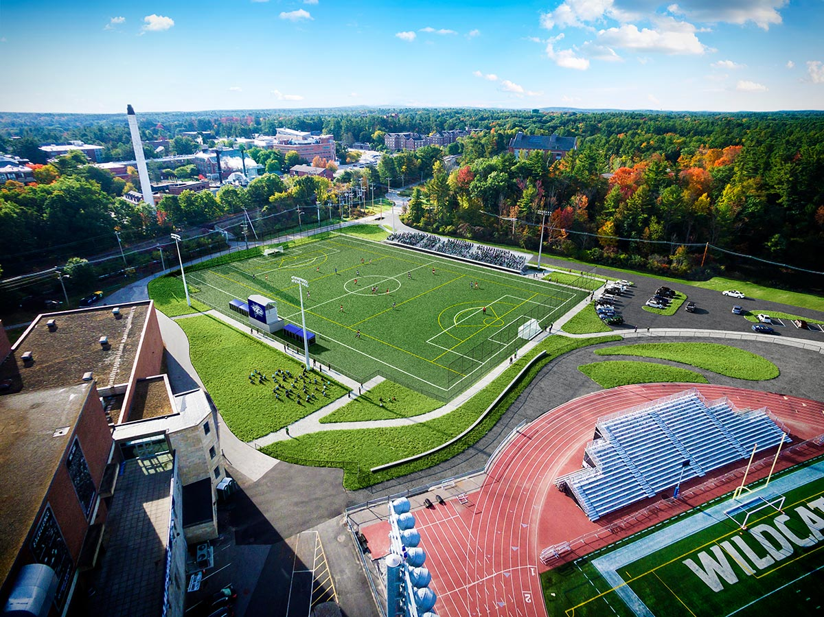 UNH Soccer Field 3D visualization rendering