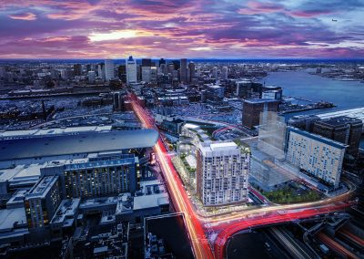 Seaport Competition Aerial Rendering
