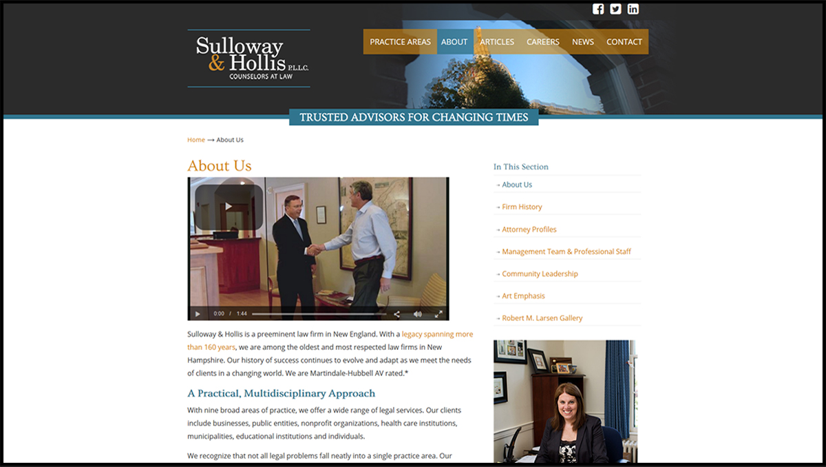 Sulloway & Hollis Web Design Services