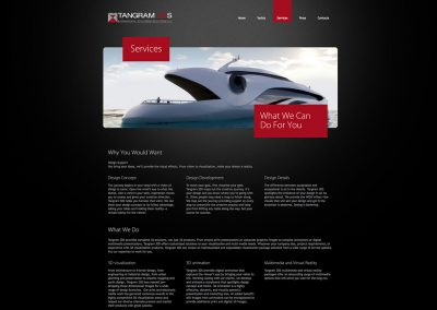 Tangram 3DS Yachts Web Design Services