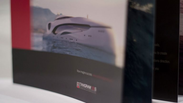 Tangram 3DS Yachts Branding, Print, and Web Design Services