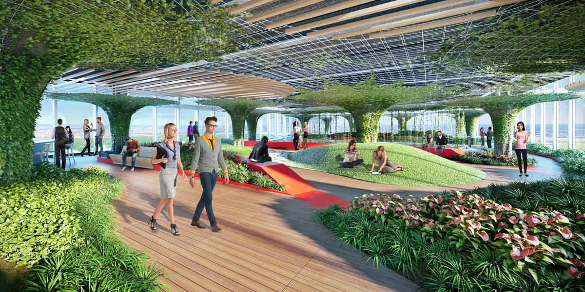 Skygarden 3D visualization renderings