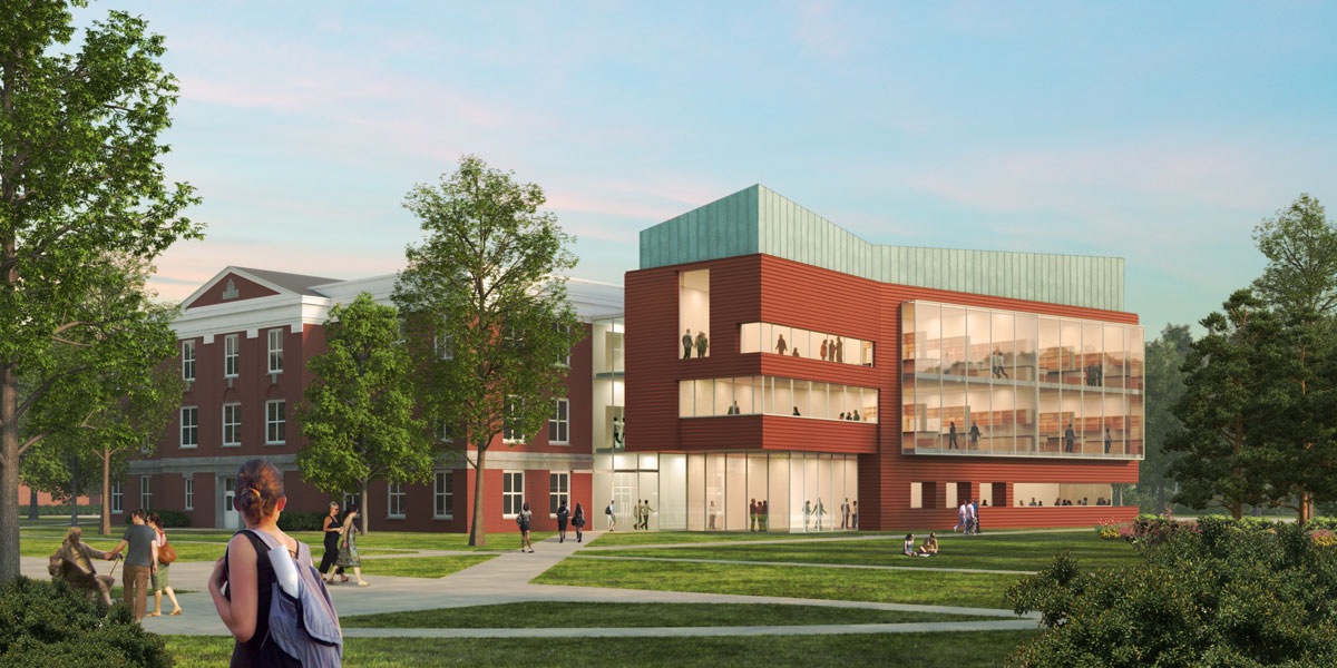 Franklin College 3D visualization renderings