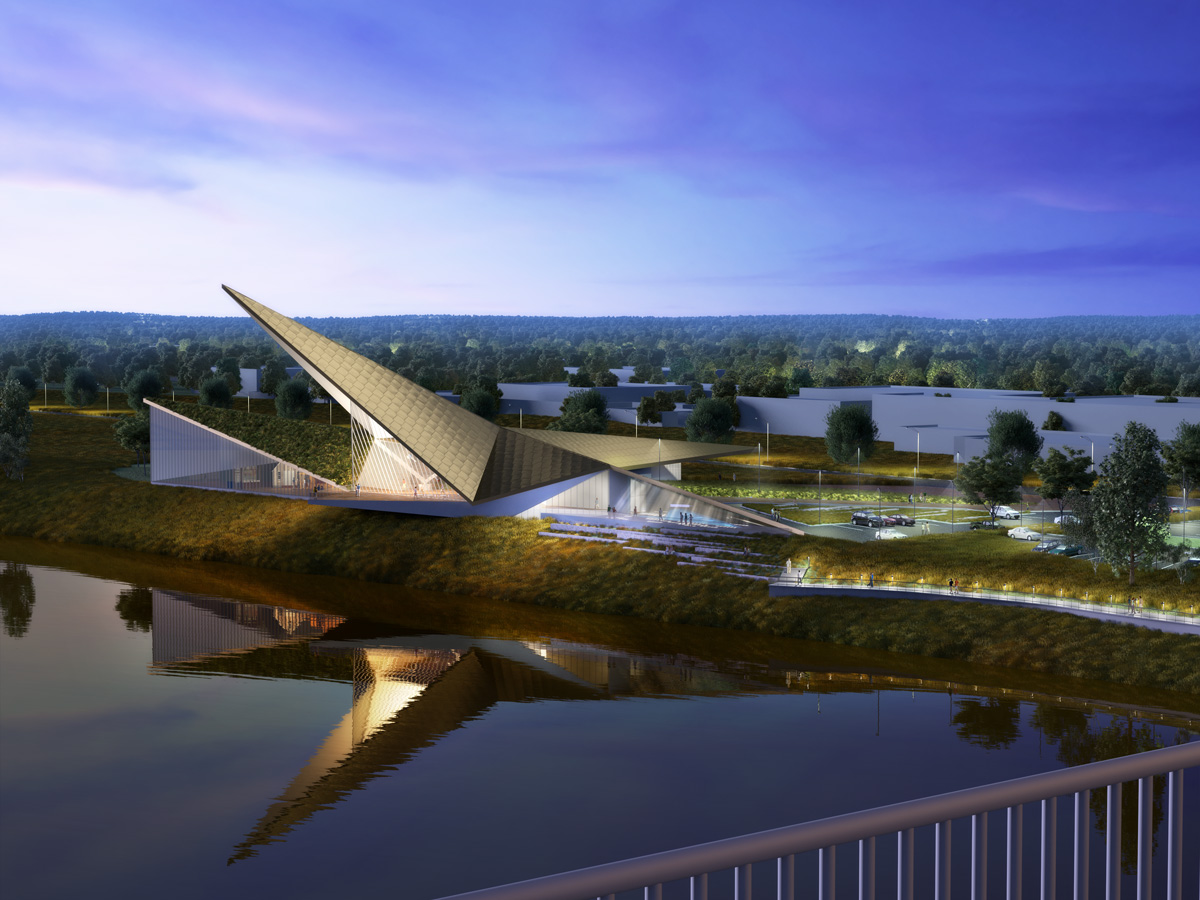 US Marshals Museum 3D visualization renderings