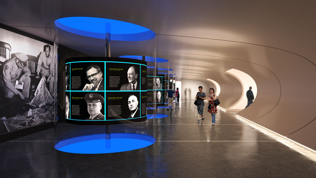 UFO Museum 3D visualization renderings