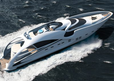 Tangram 3DS Yachts - Audax 130 3D visualization renderings