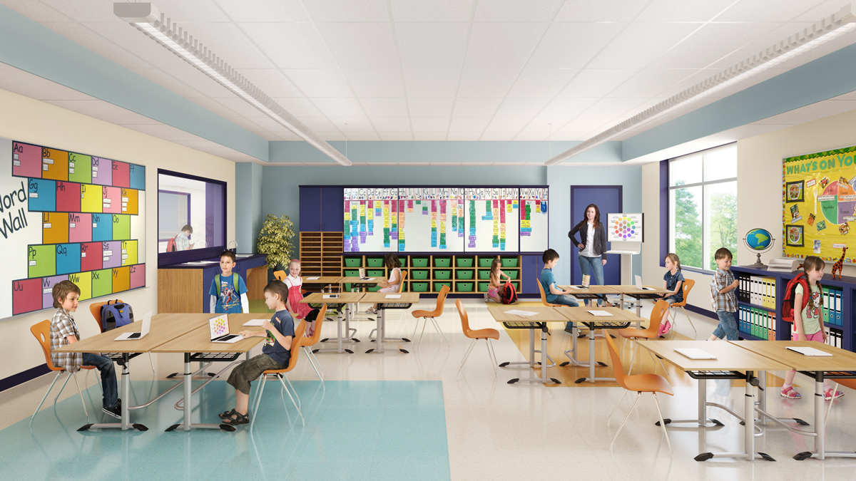 Fisk School 3D visualization renderings