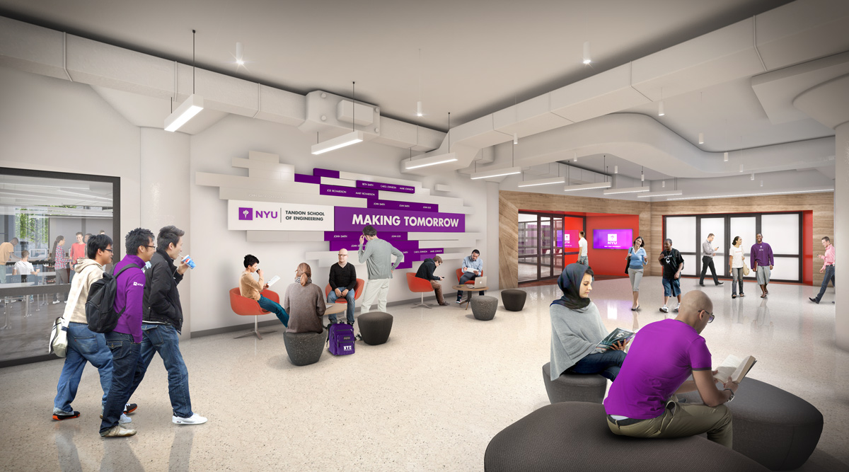 NYU Rogers Hall 3D visualization renderings