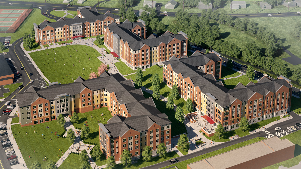 Shippensburg University of Pennsylvania 3D visualization renderings