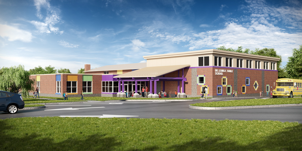 Soule School 3D visualization renderings