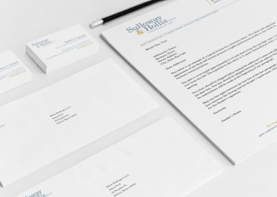 Sulloway & Hollis Letterhead and Business Cards Branding and Print Design Services